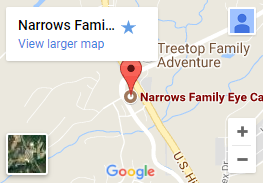 Narows Family Eyecare google map
