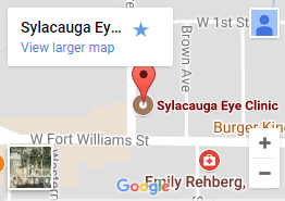 Sylacauga Eye Clinic google map